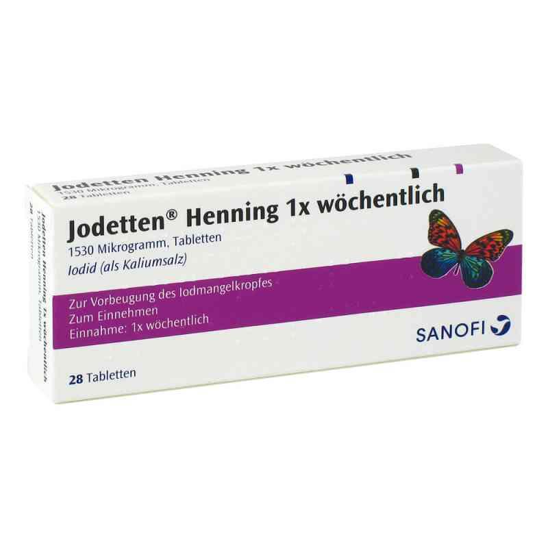 Jodetten Henning 1x wöchentlich 1530 Mikrogramm  bei versandapo.de bestellen