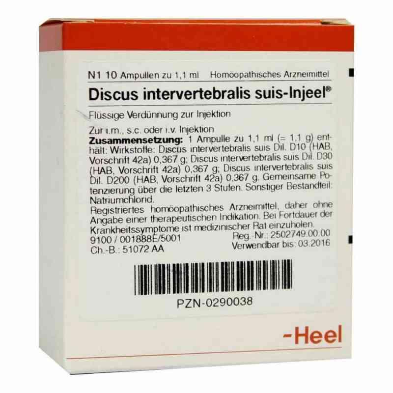 Discus Intervertebralis suis Injeel Ampullen  bei versandapo.de bestellen