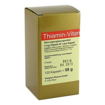 Thiamin Kapseln Vitamin B1  bei versandapo.de bestellen