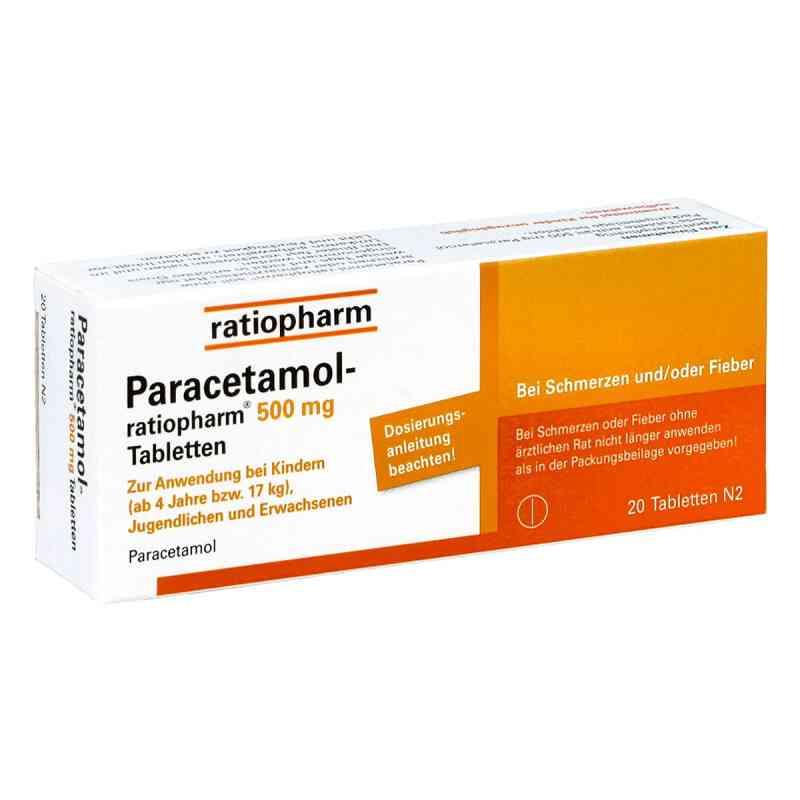 Paracetamol ratiopharm 500mg  bei versandapo.de bestellen