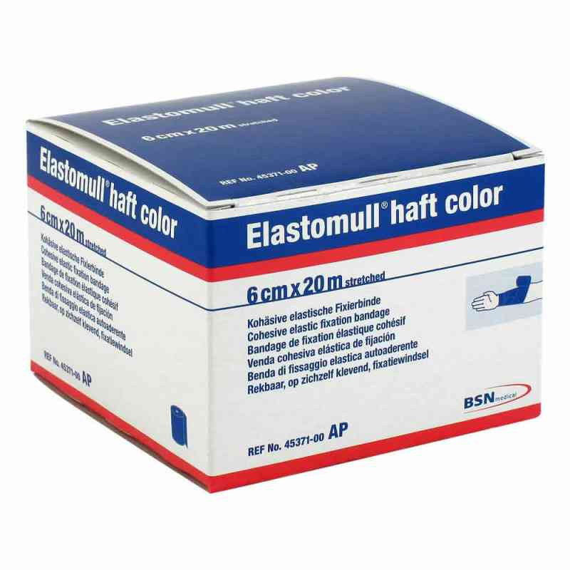 Elastomull haft color 20mx6cm blau Fixierbinde   bei versandapo.de bestellen