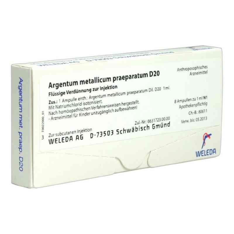 Argentum Metallicum Praep. D 20 Ampullen  bei versandapo.de bestellen