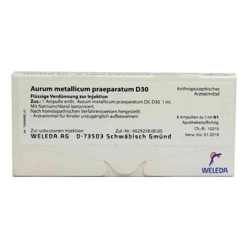 Aurum Metallicum Praep. D 30 Ampullen  bei versandapo.de bestellen