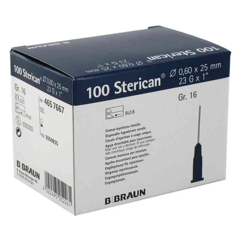 Sterican Kanüle luer-lok 0,60x25mm Größe 1 6 blau  bei versandapo.de bestellen