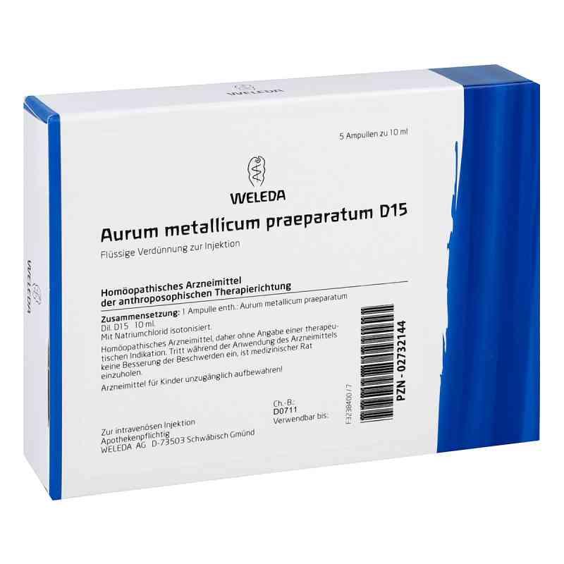 Aurum Metallicum Praep. D 15 Ampullen  bei versandapo.de bestellen