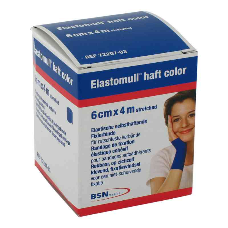 Elastomull haft 4mx6cm 72207-03 blau Fixierbinde   bei versandapo.de bestellen