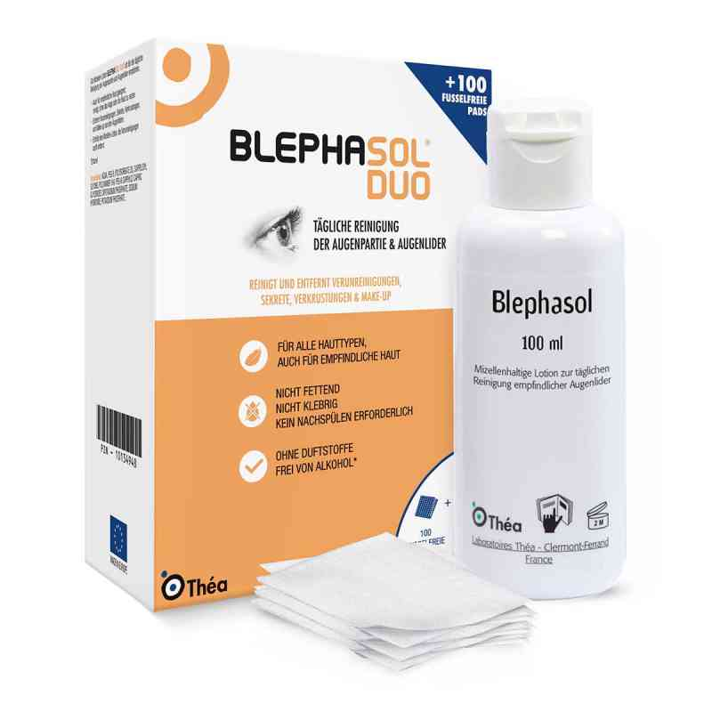 Blephasol Duo 100 ml Lotion+100 Reinigungspads  bei versandapo.de bestellen