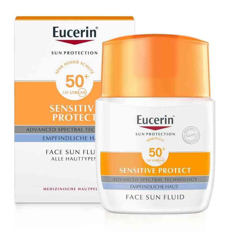 Eucerin Sun Sensitive Protect Face Fluid LSF 50+  bei versandapo.de bestellen