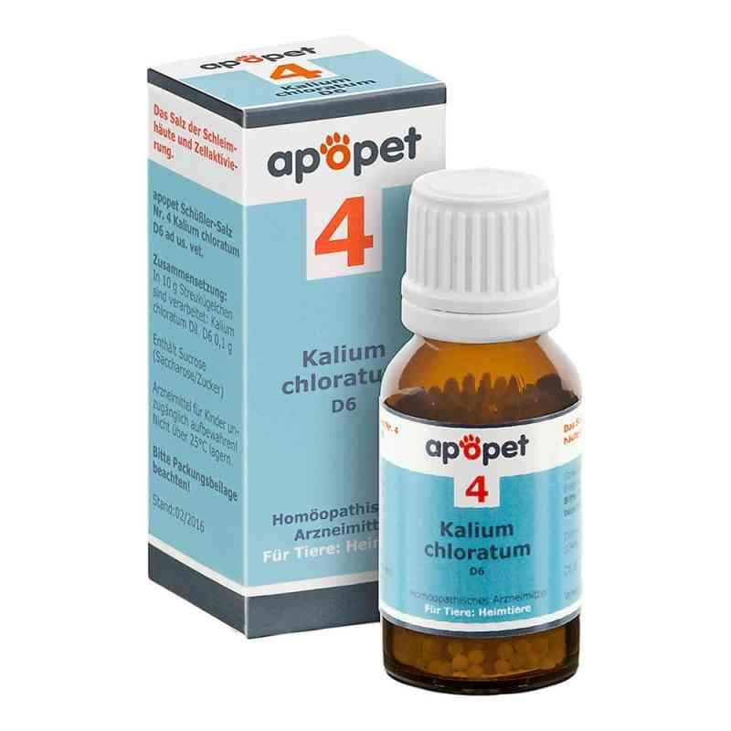 Apopet Schüssler-salz Nummer 4  Kalium chlor.D 6 veterinär   bei versandapo.de bestellen