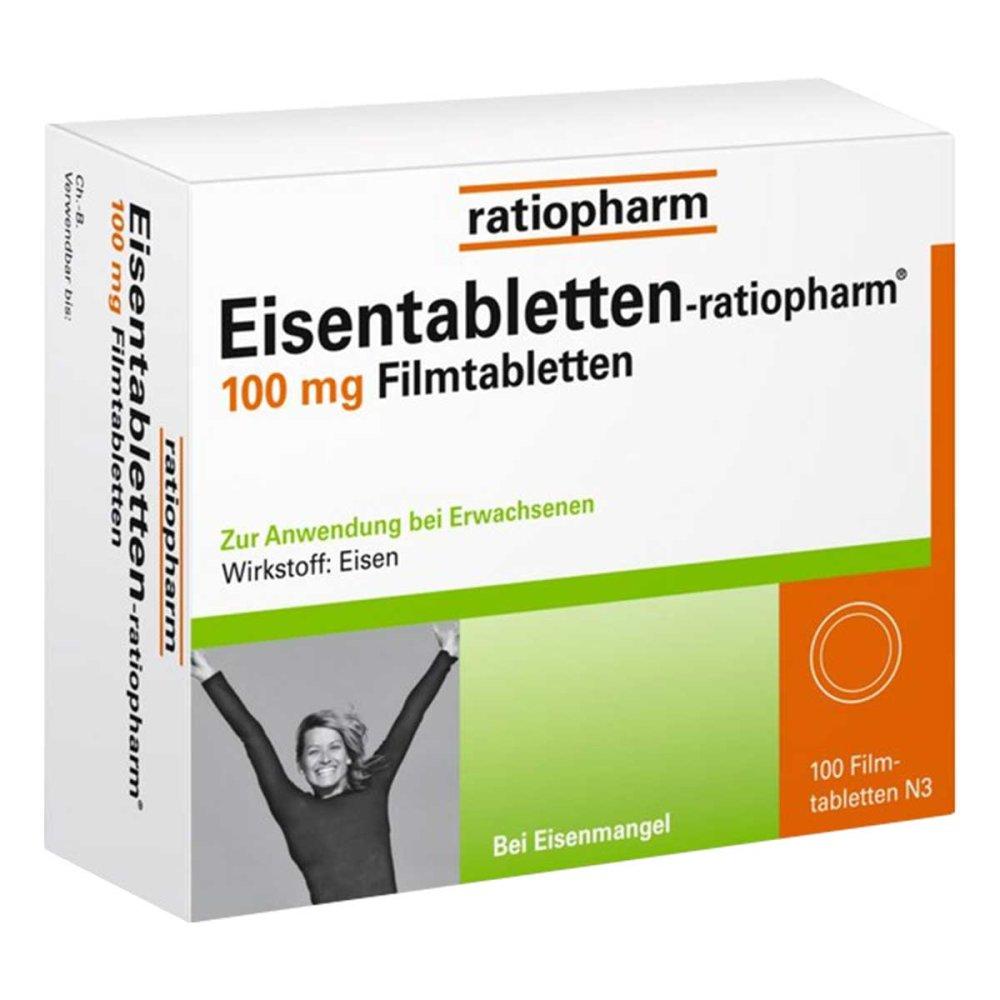 Eisentabletten Ratiopharm 100mg 100 Stk Bei Versandapode