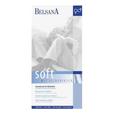 Belsana Soft Diab.socke 3 schwarz mit Silberfaser  bei versandapo.de bestellen