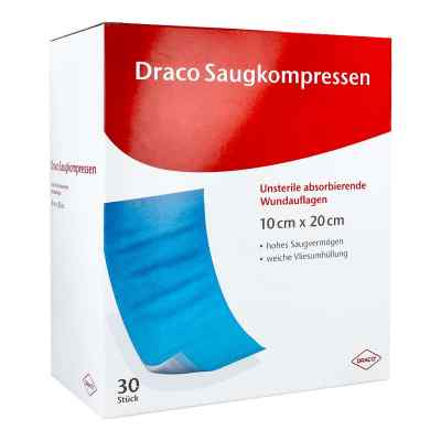 Saugkompressen unsteril 10x20cm Draco  bei versandapo.de bestellen