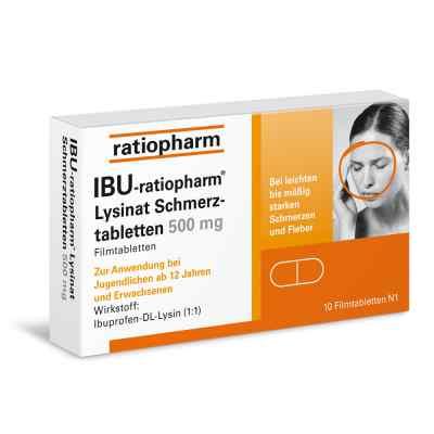 IBU-ratiopharm Lysinat Schmerztabletten 500mg  bei versandapo.de bestellen
