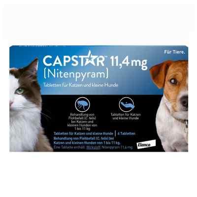 Capstar 11,4 mg für Katzen und kleine Hunde Tabletten  bei versandapo.de bestellen