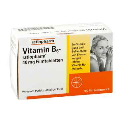 Vitamin B6 ratiopharm 40 mg Filmtabletten  bei versandapo.de bestellen