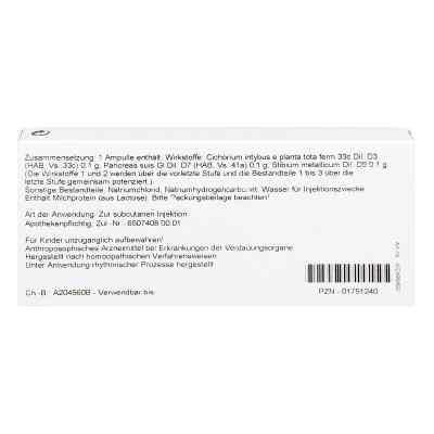 Cichorium Pancreas Comp. Ampullen  bei versandapo.de bestellen