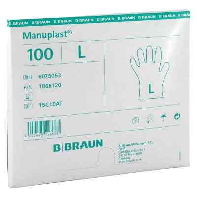 Manuplast Einmal Handschuhe gross, hell  bei versandapo.de bestellen