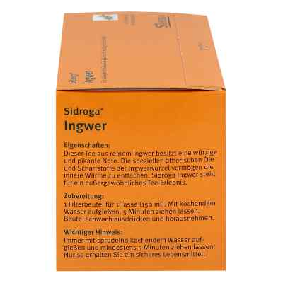 Sidroga Ingwer Tee Filterbeutel  bei versandapo.de bestellen