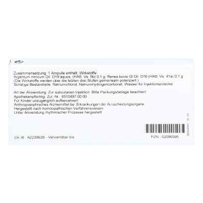 Renes/ Argentum Nitricum Ampullen  bei versandapo.de bestellen