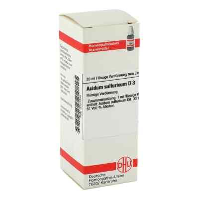 Acidum Sulfuricum D 3 Dilution  bei versandapo.de bestellen