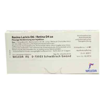 Resina Laricis/ D 6 Retina D 4 aa Ampullen  bei versandapo.de bestellen