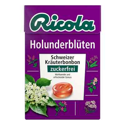 Ricola ohne Zucker  Box Holunderblüten Bonbons  bei versandapo.de bestellen