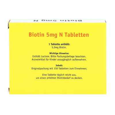 Biotin 5 mg N Tabletten  bei versandapo.de bestellen