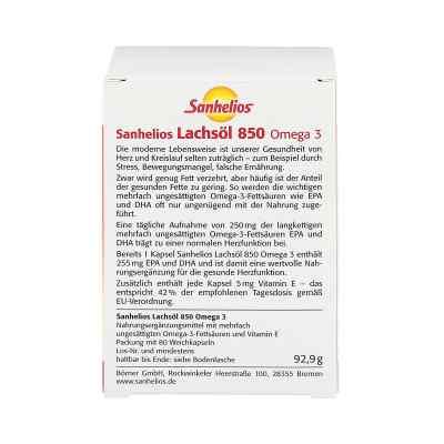Sanhelios Lachsöl 850 Omega 3 Kapseln  bei versandapo.de bestellen