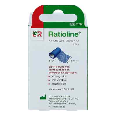 Ratioline acute Fixierbinde kohäsiv 8 cmx4 m blau  bei versandapo.de bestellen