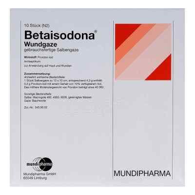Betaisodona Wundgaze 10x10 cm  bei versandapo.de bestellen
