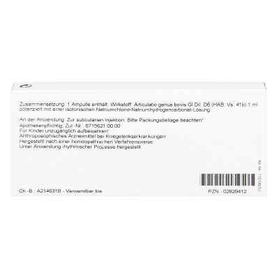 Articulatio Genus Gl D 6 Ampullen  bei versandapo.de bestellen