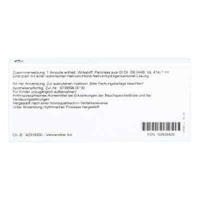 Pancreas Gl D 6 Ampullen  bei versandapo.de bestellen