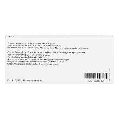 Articulatio Coxae Gl D 30 Ampullen  bei versandapo.de bestellen