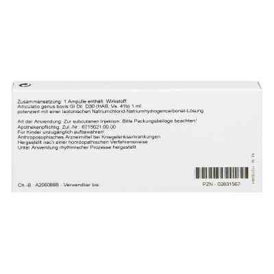 Articulatio Genus Gl D 30 Ampullen  bei versandapo.de bestellen