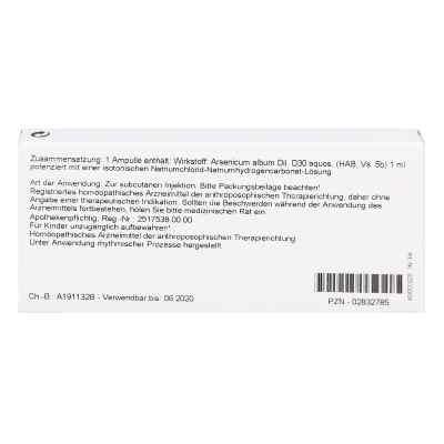 Arsenicum Album D 30 Ampullen  bei versandapo.de bestellen
