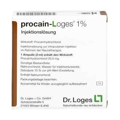 Procain Loges 1% Injektionslösung Ampullen  bei versandapo.de bestellen