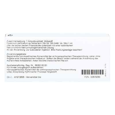 Hypericum Ex Herba D 6 Ampullen  bei versandapo.de bestellen