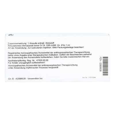 Articulationes Intercarp. Gl D 30 Ampullen  bei versandapo.de bestellen