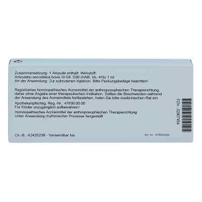Articulatio Sacroiliaca Gl D 30 Ampullen  bei versandapo.de bestellen