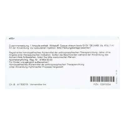 Corpus Vitreum Gl D 6 Ampullen  bei versandapo.de bestellen