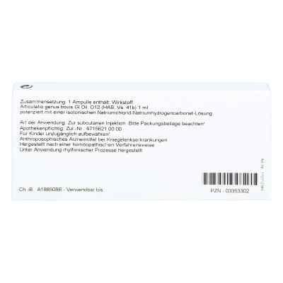 Articulatio Genus Gl D 12 Ampullen  bei versandapo.de bestellen