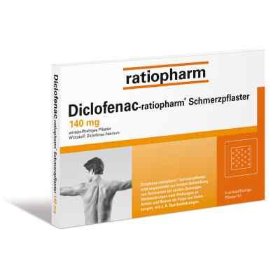 Diclofenac-ratiopharm Schmerzpflaster 140mg  bei versandapo.de bestellen