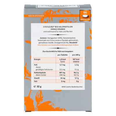 Cystus 052 Bio Halspastillen Honig Orange  bei versandapo.de bestellen
