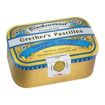 Grethers Blackcurrant Silber Pastillen zuckerfrei Dose  bei versandapo.de bestellen