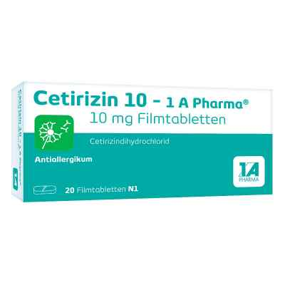 Cetirizin 10-1A Pharma  bei versandapo.de bestellen