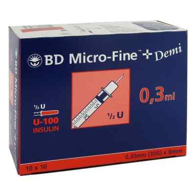 Bd Micro-fine+ U 100 Ins.spr. 0,3x8 mm  bei versandapo.de bestellen