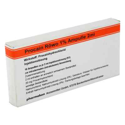 Procain Röwo 1% Ampullen 2 ml  bei versandapo.de bestellen