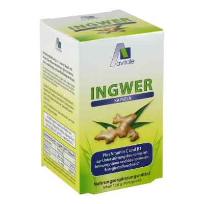 Ingwer 500 mg Kapseln + Vitamin B1+c  bei versandapo.de bestellen