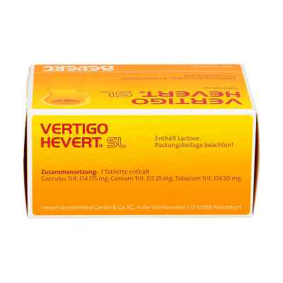 Vertigo Hevert Sl Tabletten  bei versandapo.de bestellen