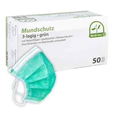 Medi Inn Mundschutz Maske mit Bändern grün  bei versandapo.de bestellen